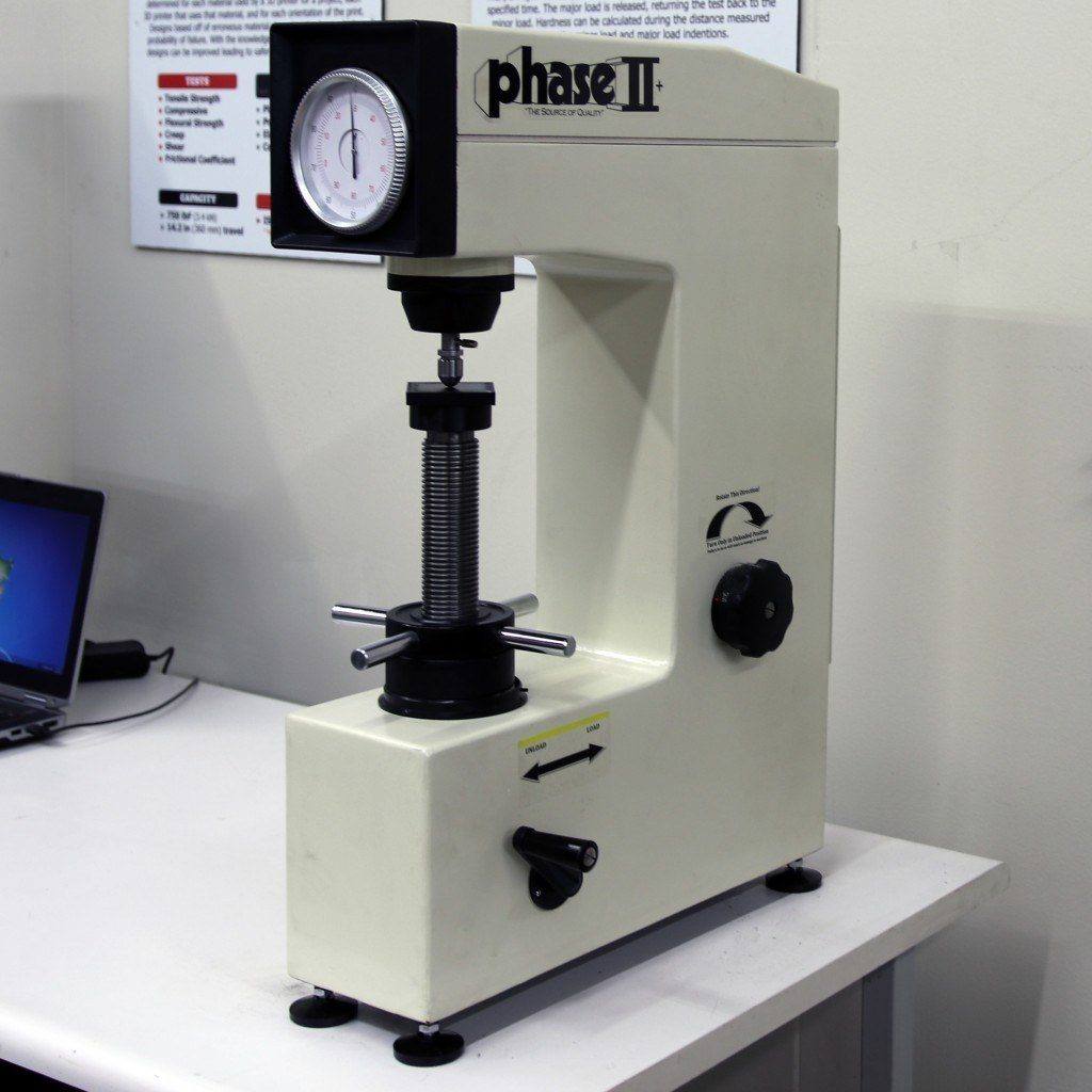 Phase II+ Rockwell Hardness Tester